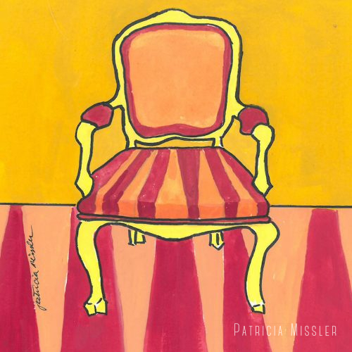 Orange & Red Stripe Chair